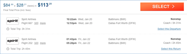cheap flights Baltimore - Dallas