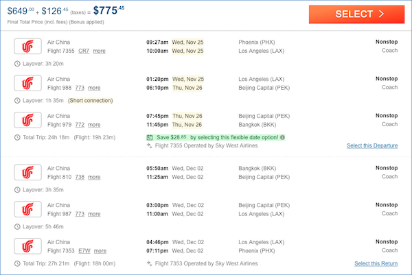 cheap tickets to Bangkok