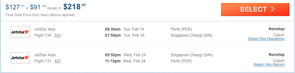 cheap flights from Australia to Singapore