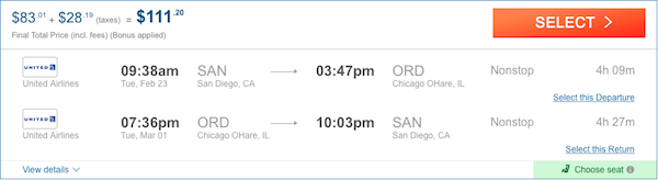 cheap fligts to Chicago