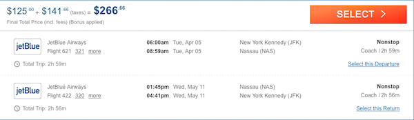 cheap flights from New york to bahamas