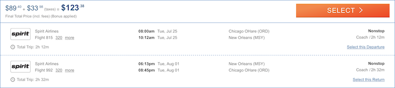 cheap flights Chicago New Orleans